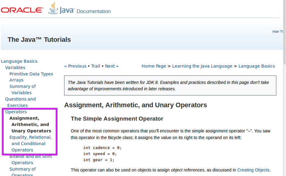 Java Variables, Operators, and If-Controlled Blocks