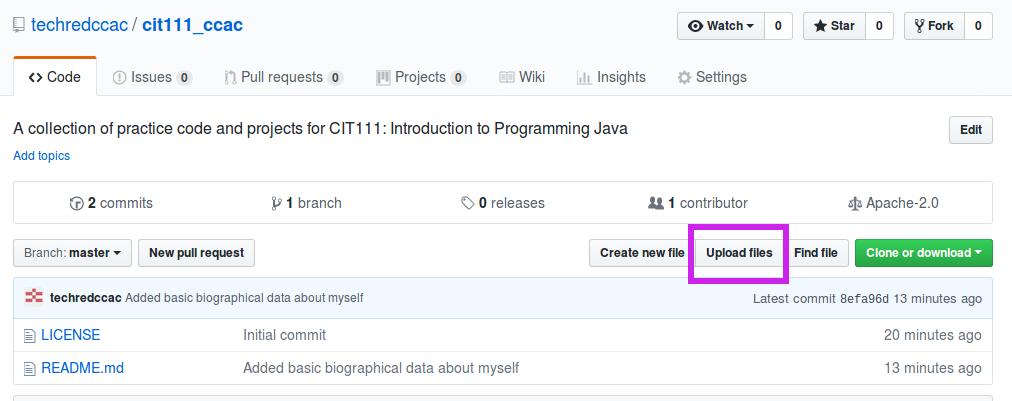 Sharing course code on GitHub