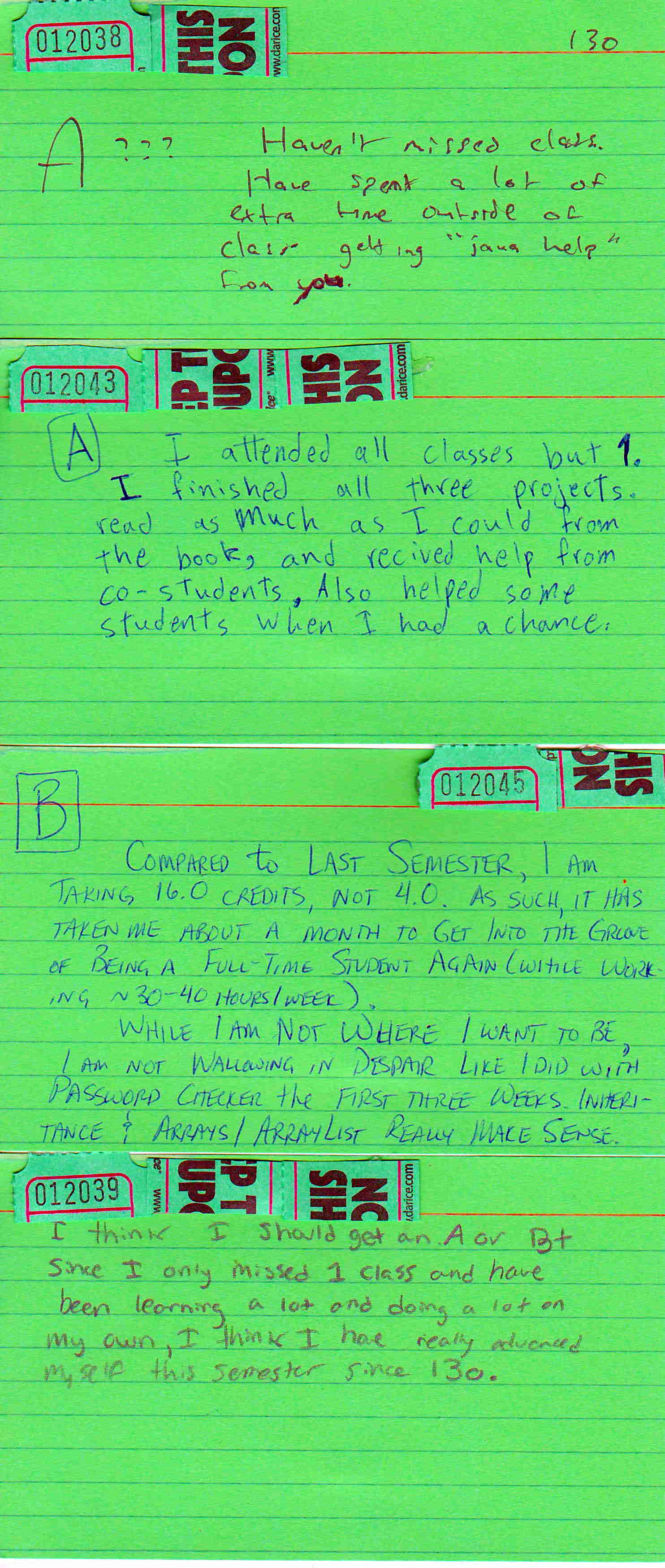 mid-term letter grade proposal card SP19